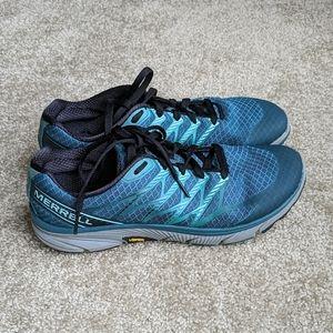 Merrell sea blue performance sneakers 9.5